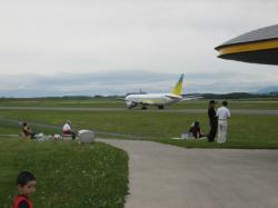 飛行機が目の前です(^^)