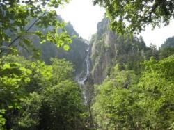 渓谷が美しい層雲峡(^^)