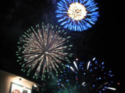 層雲峡渓谷火祭りの花火(2006年7月)