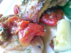 ズッキーニやポテト、トマトの彩りもきれいに♪