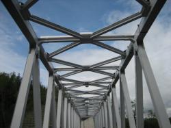 白金温泉 橋を渡って・・・