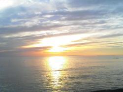 苫前の夕陽
