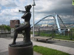 彫刻と橋~大正橋~