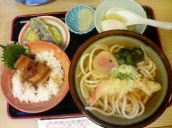 豚角煮丼セット 850円