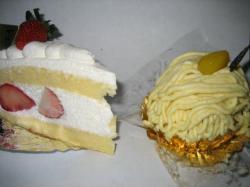 いちごのショートケーキ&モンブラン