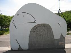 正門を入って正面にホッキョクグマ 記念撮影スポットです(^^)