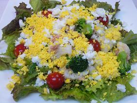 ツナと温野菜のミモザサラダ