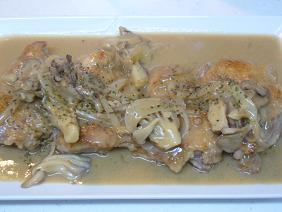 鶏もも肉と舞茸のクリーム煮