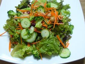 ヒヨコ豆とグリーンサラダ
