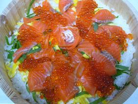 鮭といくらのちらし寿司