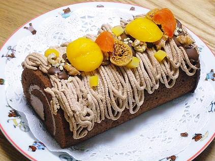 モンブラン風チョコロール