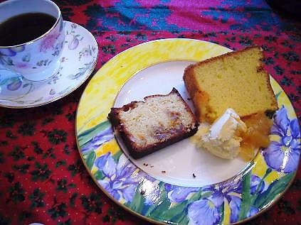シフォンケーキとパウンドケーキ