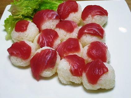 手まり寿司(まぐろ)