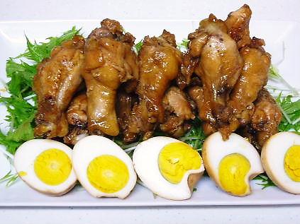 鶏手羽元の青じそドレッシング煮