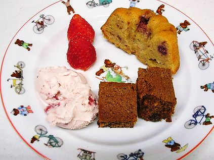 ブラウニーとバターケーキ