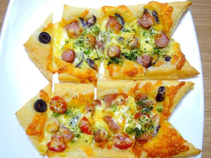 こいのぼりのピザパイ