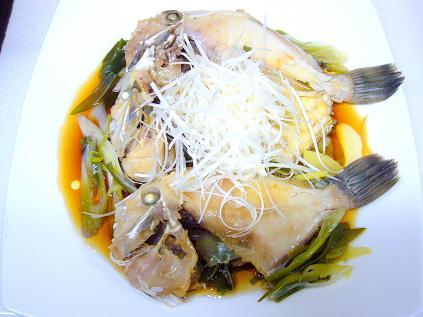 カワハギの中華風蒸し煮