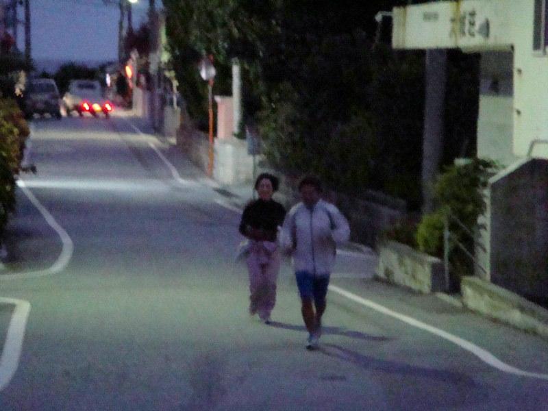 大会前夜の試走
