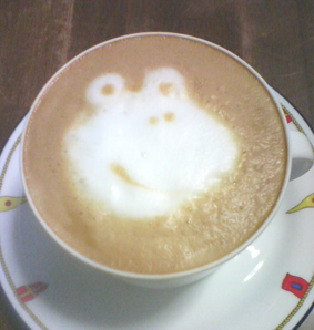 frog cappuccino