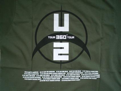 U2 360 tour T( back