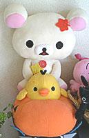 コリラックマと黄色い鳥