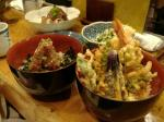 アジ丼と天丼
