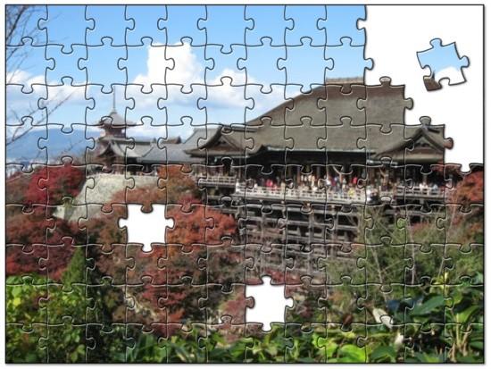 ジグゾーパズル風清水寺