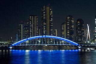 永代橋ライトアップ