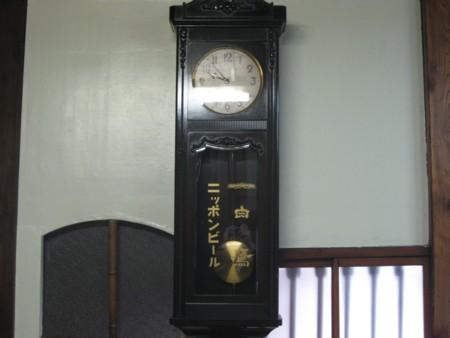 環翠楼 玄関柱時計