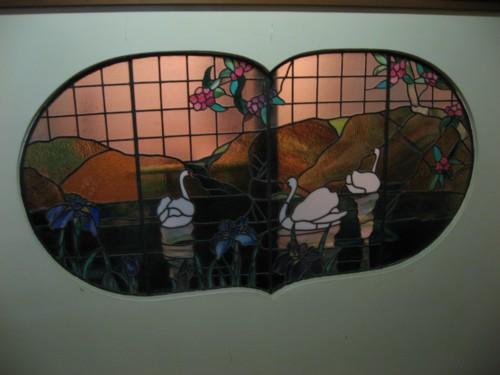 環翠楼 風呂前ステンドグラス