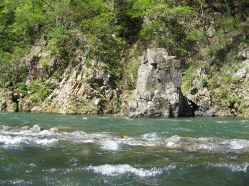 ライン下り 積木岩