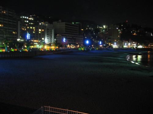 熱海砂浜ライトアップ