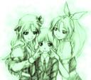 綿月姉妹とレイセン