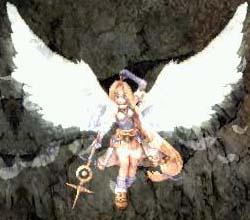 日陰で豪華天使