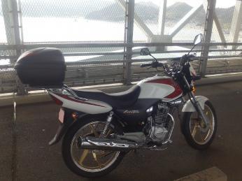 因島大橋途中にて