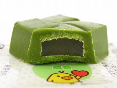 チロルチョコ--リラックマ・3色だんご(抹茶もち)。