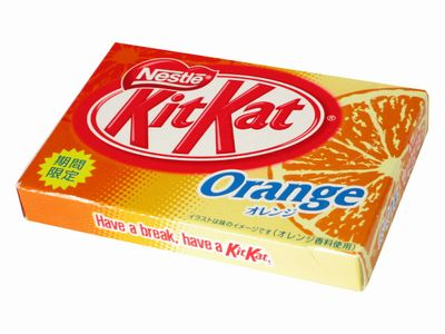 キットカット--オレンジ。