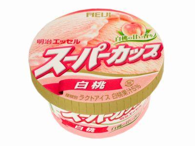 明治エッセル--スーパーカップ 白桃。