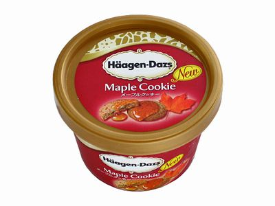 ハーゲンダッツ--メープルクッキー。