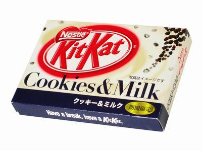 ネスレ--キットカット クッキー&ミルク。