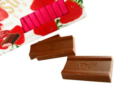 Meiji--チョコレート ストロベリー。