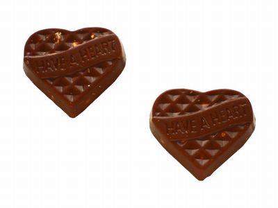 FUJIYA--HEART Chocolate ピーナッツ入り。
