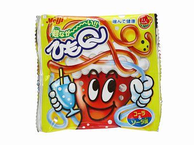 Meiji--ひもQ コーラ&ソーダ味。