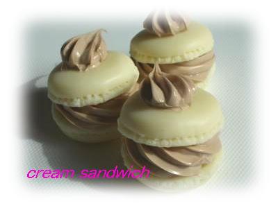 チョコクリームマカロン2
