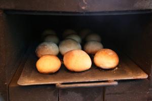 森のクリームチーズパン試作