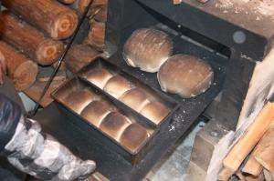 石窯でパン♪