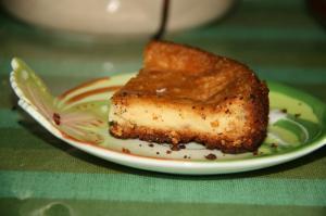 初ベイクドチーズケーキ