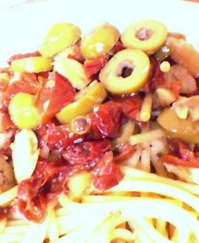 ドライトマトのパスタ