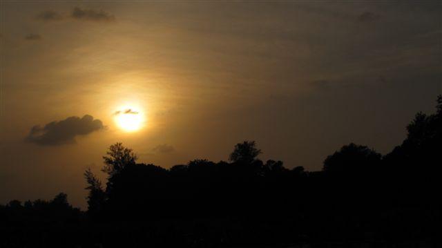 夕日を眺めて