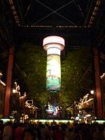七夕飾りのライトアップ